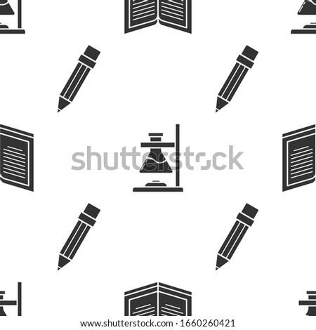 set open book  glass test tube
