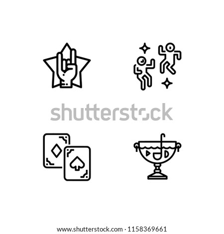 Set outline icon EPS 10 vector format.  Transparent background. Party and event.