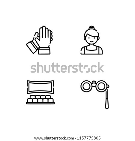 Set outline icon EPS 10 vector format.  Transparent background. Scenic arts.