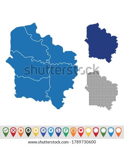 Set outline maps of Hauts-de-France Photo stock ©