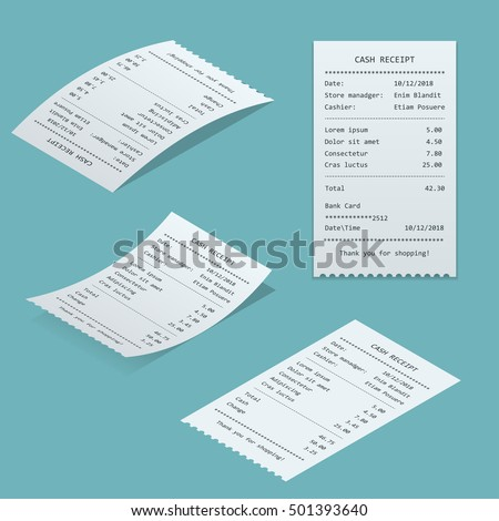 Set Paper check and financial check isolated.