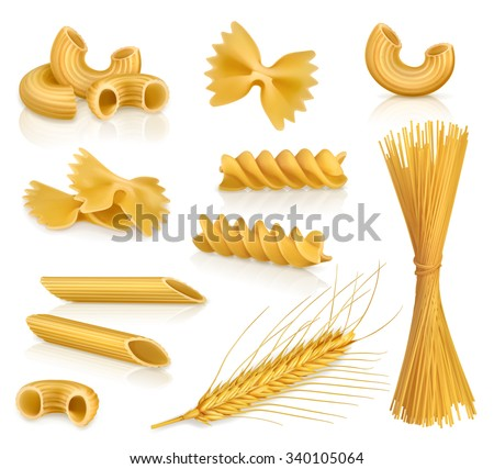 Set pasta, vector icons