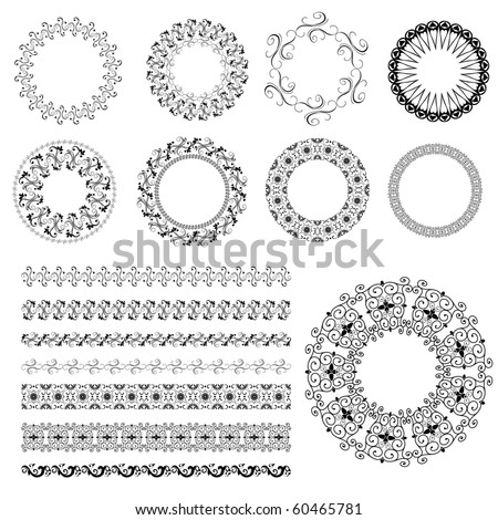set pattern arabesque
