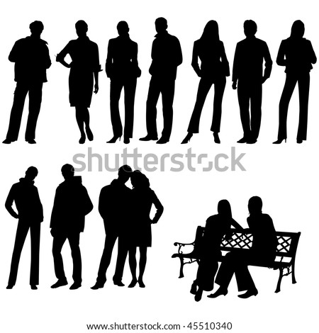 Set people. This image is a vector illustration and can be scaled to any size without loss of resolution