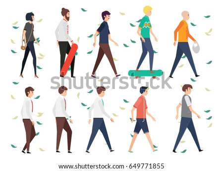 set people walking style in