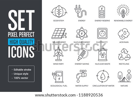 Set pixel perfect high quality lines icons