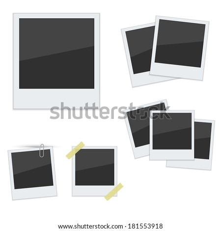 set polaroid photo frames on