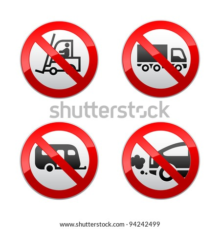 Set prohibited symbols - transport
