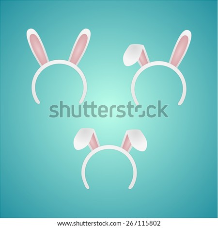 set rabbit ears isolated