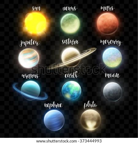 set realistic bright planets