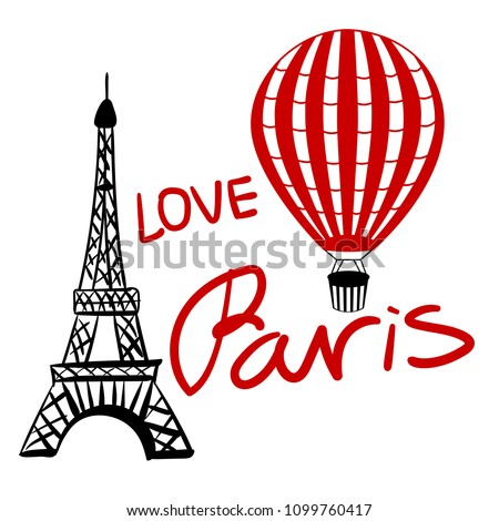 set red balloon and paris