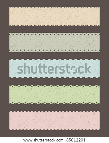 Set retro borders vector illustration Eps 10.
