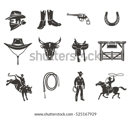 set rodeo icons.