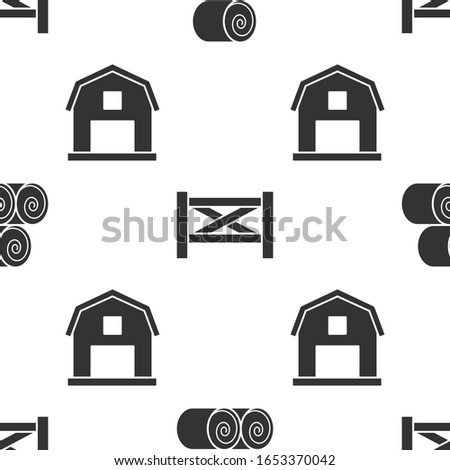 set roll of hay  garden fence