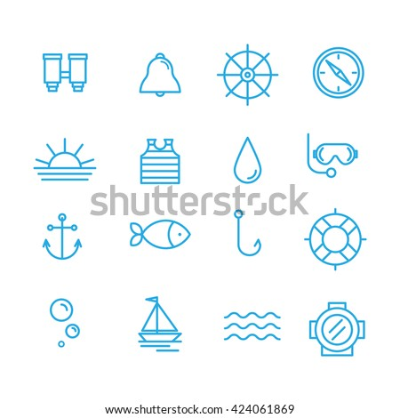 set sea icons