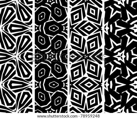 Set seamless geometric pattern, vector