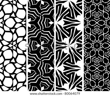 Set seamless geometric pattern, vector