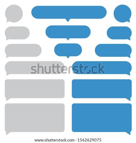 Set Short Message Service Bubbles. Bubbles for comment in devices. Flat vector icons