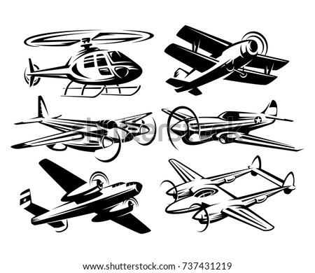 set silhouette aircraft