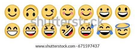set smiley vector icon