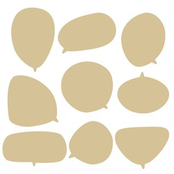 Set speech bubble on a white background, vector speaking or chat talk box , icon balloon text or communication,speak cloud for cartoon and comic, message dialog