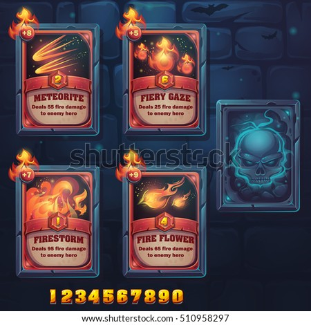 set spell cards of meteorite