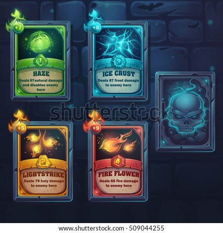 set spell cards of nature  ice
