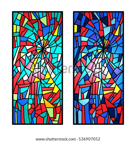 set stained glass decorative