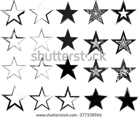 set star  vector star  grunge
