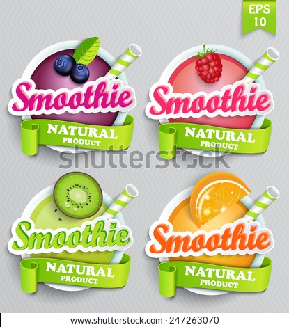 set sticers smoothie with