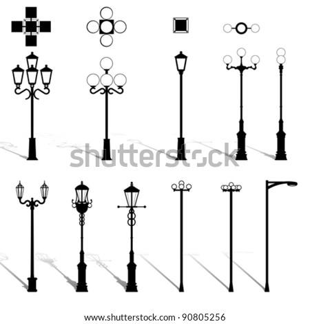 set street lamppost isolated on