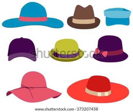 summer hats - download free vector art, stock graphics & images