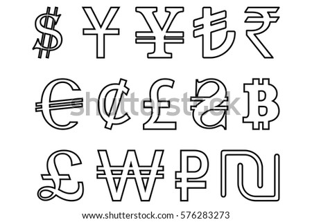 Currency Symbols Of The World Download Free Vector Art Stock
