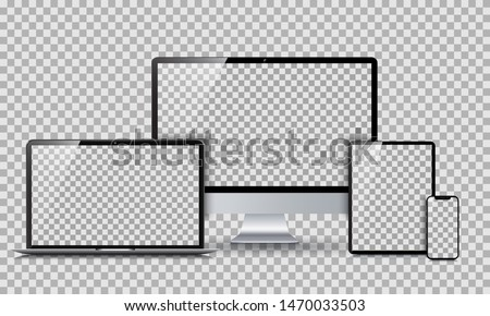 Set technology devices with empty display - for stock