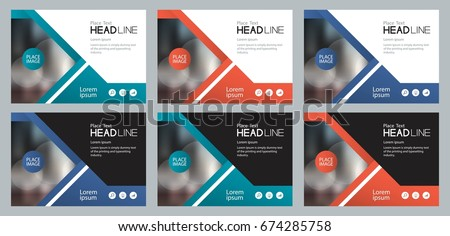 set template design for social media and web  banners background, with use in presentation,brochure,book cover layout,flyers,and flat vector file to easy editable