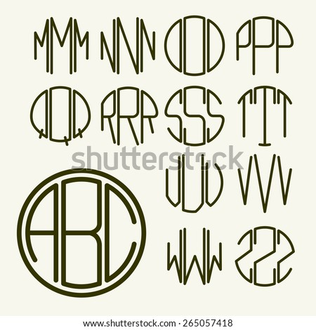 set 2 template letters to