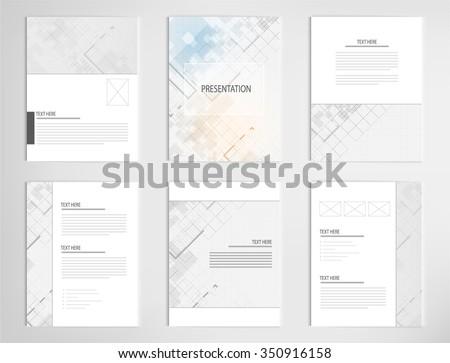 set templates for presentation slides. Graphic design of architectural background
