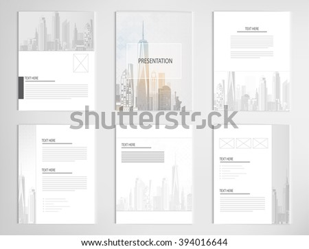 set templates for presentation