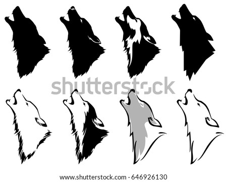 set the head of a wolf
