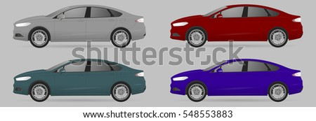 set the type of sedan cars all