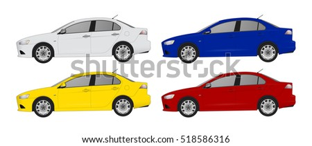 set the type of sedan cars of