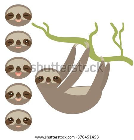 set three toed sloths funny