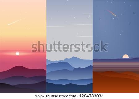 set tof three vector background