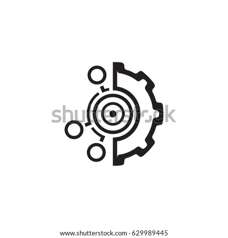 Set Up Business Goals Icon. Business and Finance. Isolated Illustration Stockfoto ©