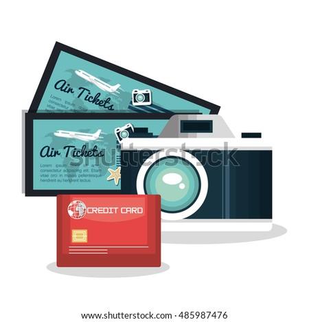 set vacation credit card camera ...