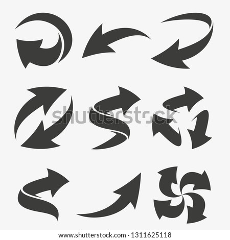 Set vector arrows elements for your design. Silhouette vector arrow. Vector illustration EPS.8 EPS.10