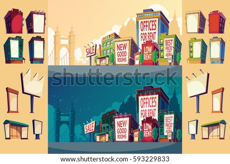 set vector cartoon illustration