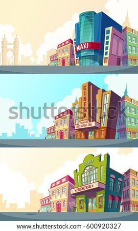 set vector cartoon illustration