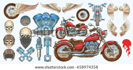 set vector color illustrations
