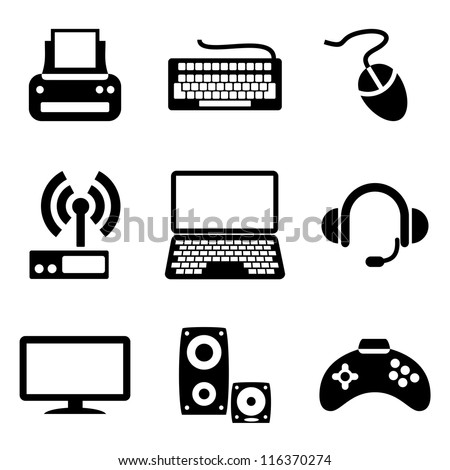 set vector computer icons of